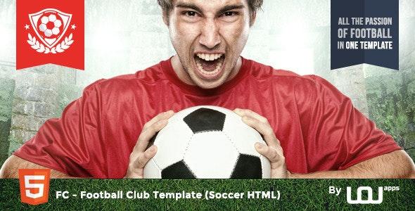 FC - Football Club Template (Soccer HTML) - Entertainment Site Templates