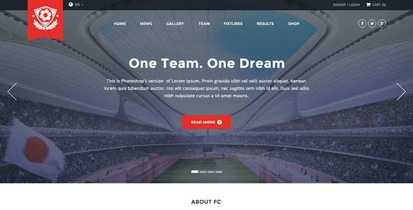 FC - Football Club Template (Soccer HTML)
