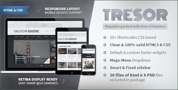 Tresor - Multipurpose News&Magazine HTML Template