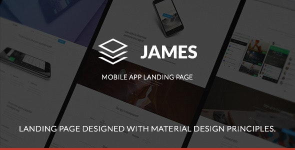 James - Material Design Mobile App Landing Page - Apps Technology