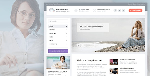 MentalPress - WP Theme for your Medical or Psychology Website. - Health & Beauty Retail