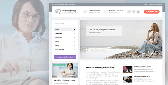 MentalPress – WP Theme for your Medical or Psychology Website.