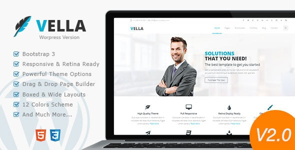 Vella - Modern Business Theme - Business Corporate