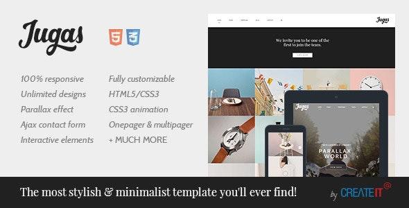 Jugas - Stylish | Freelancer | Portfolio Template - Creative Site Templates