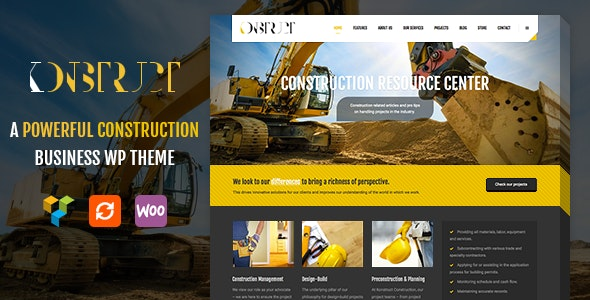Konstruct - Construction, Building WordPress Theme - Business Corporate
