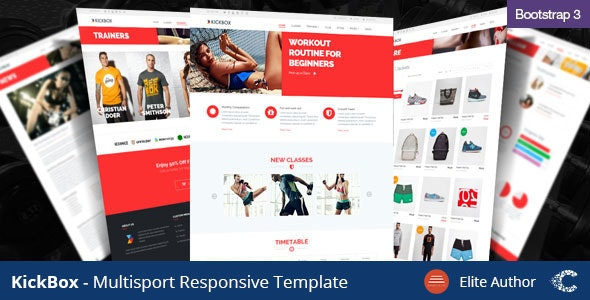 Kickbox - Multisport Responsive Theme - Health & Beauty Retail
