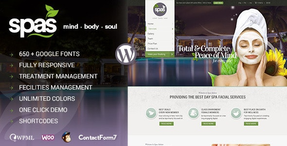 Spas | Health and Beauty WordPress Theme - Health & Beauty Retail