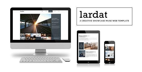 Lardat - Creative Showcase Muse Web Template - Creative Muse Templates