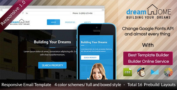 Dream Home - Responsive Email + Builder Access - Email Templates Marketing