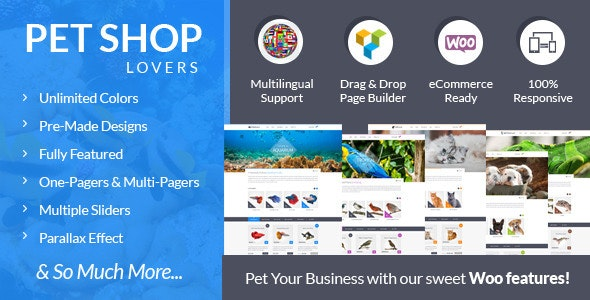Pet Shop Lovers - Woo/eCommerce WP Theme - WooCommerce eCommerce