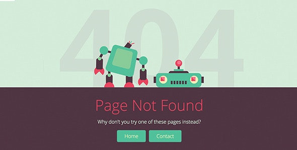 Brokebot - Animated SVG 404 Error Pages - 404 Pages Specialty Pages