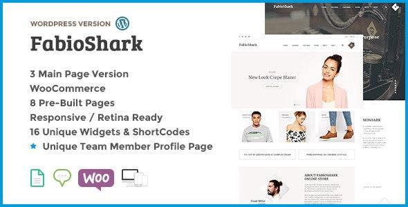 FabioShark - Responsive Bootstrap WordPress MultiP - Corporate WordPress