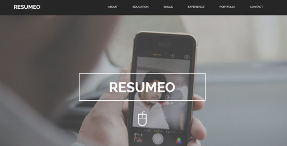 Resumeo - One Page Resume Template - Personal Muse Templates