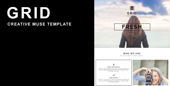 Grid Muse Template - Creative Muse Templates
