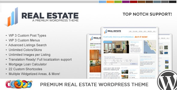 WP Pro Real Estate 2 WordPress Theme - Real Estate WordPress