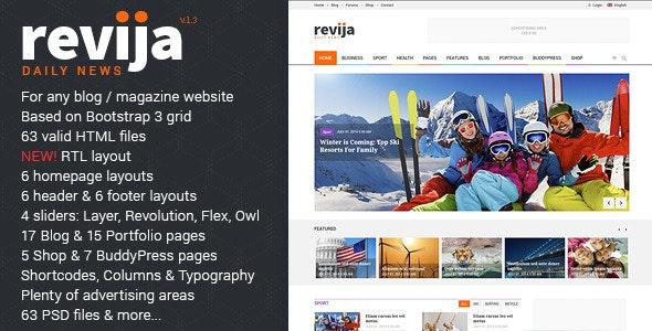 Revija - Premium Blog/Magazine HTML Template by Monkeysan
