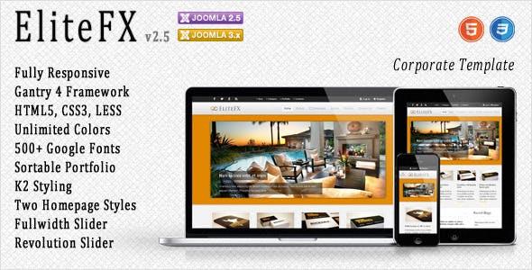 EliteFX - Fully Responsive Joomla Template