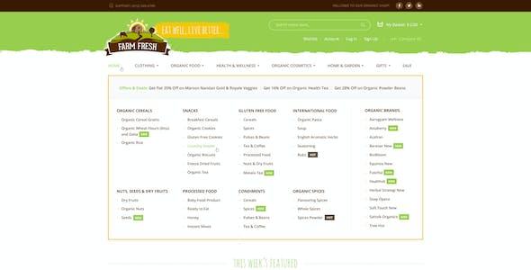 Farm Fresh - Organic Products PSD Template