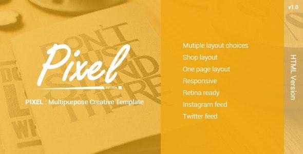PIXEL : Multipurposes Creative Template - Creative Site Templates