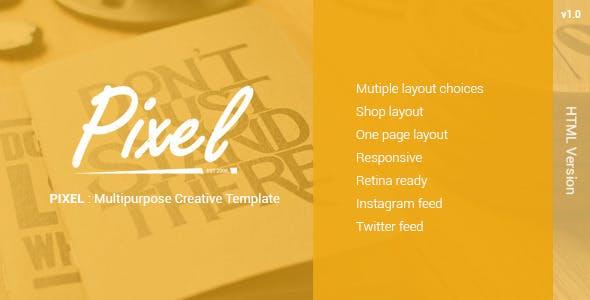 PIXEL : Multipurposes Creative Template