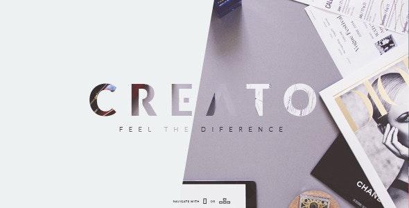 Creato - Creative & Modern PSD Template - Creative Photoshop