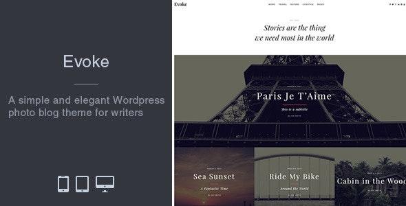 Evoke - Photo Stories WordPress Blog Theme - Blog / Magazine WordPress