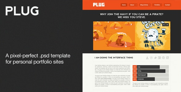 Plug - A Personal Portfolio PSD Theme - Creative Photoshop