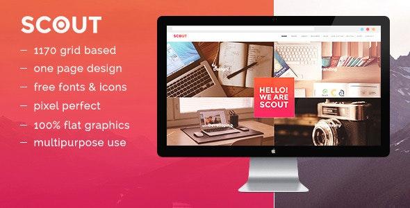 Scout - OnePage Portfolio Template - Portfolio Creative