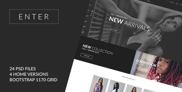 ENTER - eCommerce PSD Template - Fashion Retail