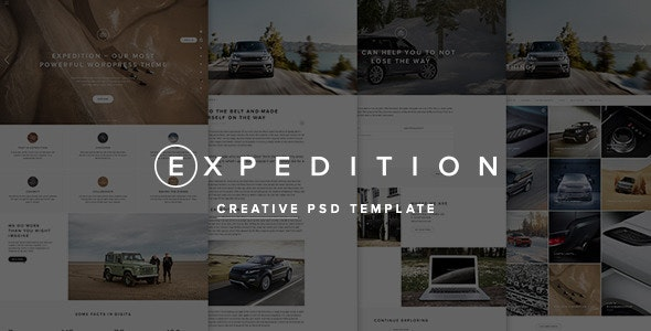 Expedition Creative PSD Template - Creative Photoshop