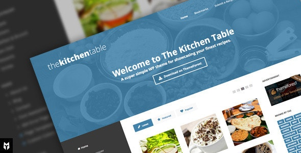 The Kitchen Table: Responsive Recipes WP Theme - Food Retail
