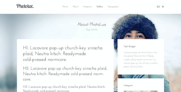PhotoLux - Creative Bootstrap HTML5 Template