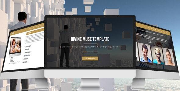 Divine - Multipurpose Muse Template - Corporate Muse Templates