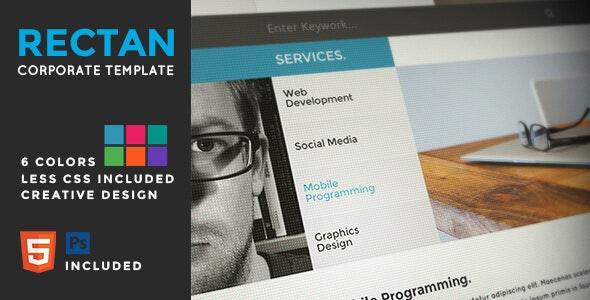 Rectan - Creative Corporate Template - Corporate Site Templates