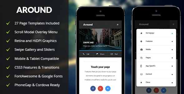 Around Mobile - Mobile Site Templates