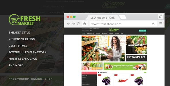 Leo Fresh Store - PrestaShop 1.7 Theme for Food & Restaurant - Health & Beauty PrestaShop