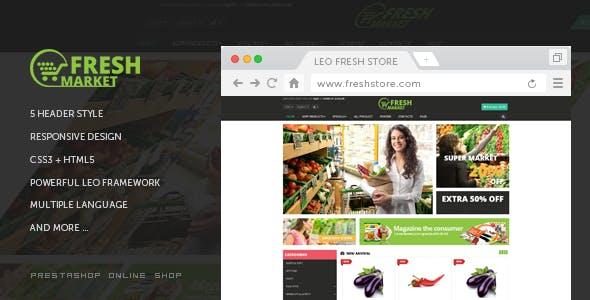 Leo Fresh Store - PrestaShop 1.7 Theme for Food & Restaurant