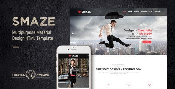 Smaze - Multipurpose Material Design HTML Template - Business Corporate