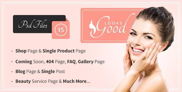 Good Looks - Beauty Salon & Spa PSD Template - Health & Beauty Retail