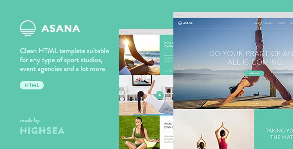Asana - Sport and Yoga HTML Template - Events Entertainment