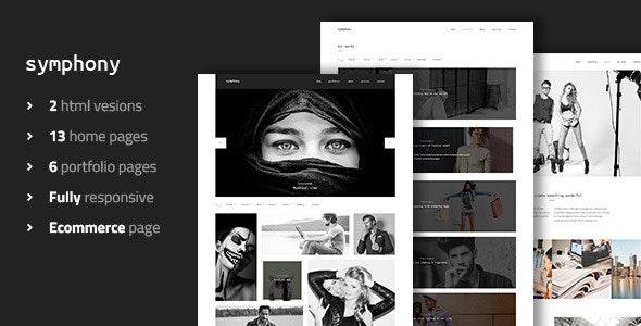 Symphony - Clean Photography Portfolio Template - Photography Creative