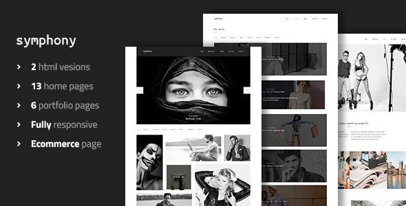 Symphony - Clean Photography Portfolio Template - Photography Creative
