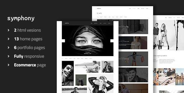 Symphony - Clean Photography Portfolio Template