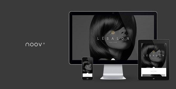 LeSalon Beauty Salon Muse Template - Landing Muse Templates