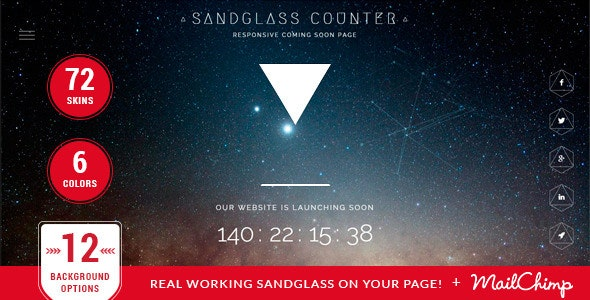 Sandglass - Responsive Countdown Template - Under Construction Specialty Pages