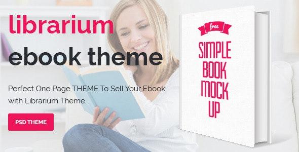 Librarium - One Page eBook Landing Theme - Marketing Corporate
