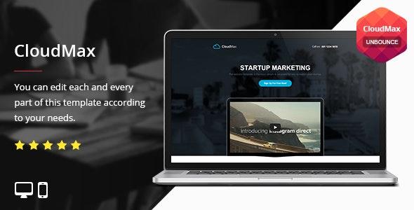 CloudMax - Unbounce Template - Unbounce Landing Pages Marketing