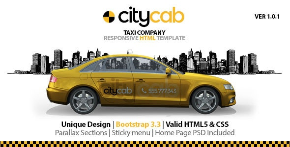 CityCab - Taxi Company Responsive HTML Template - Travel Retail