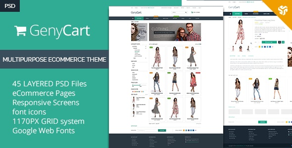 GenyCart - Clean & Modern eCommerce PSD Template - Shopping Retail