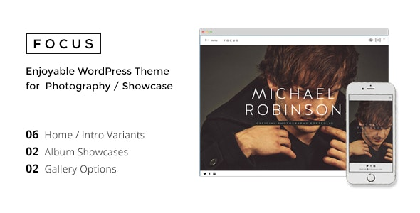 FOCUS -A Minimal WordPress Theme for Photographer - Photography Creative